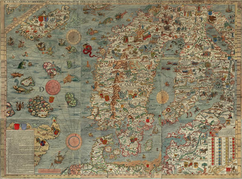 Carta Marina - Olaus Magnus 1542